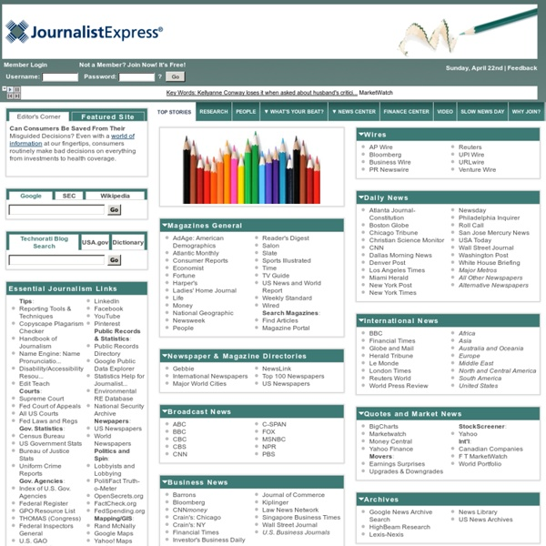 JournalistExpress: News & Research Portal for Reporters