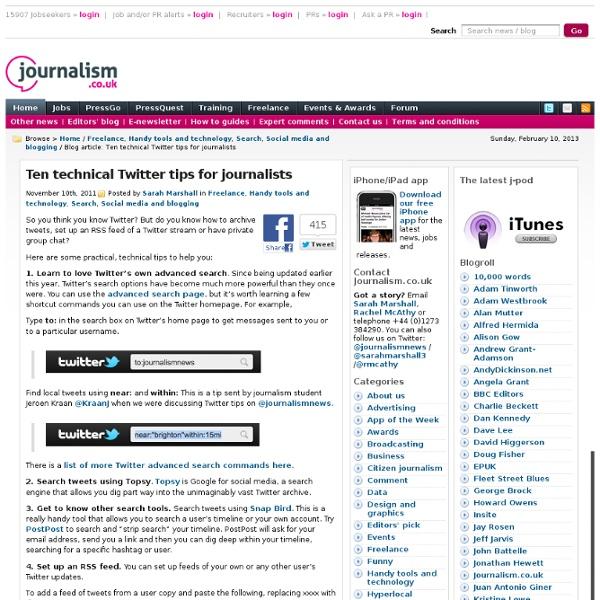 Ten technical Twitter tips for journalists