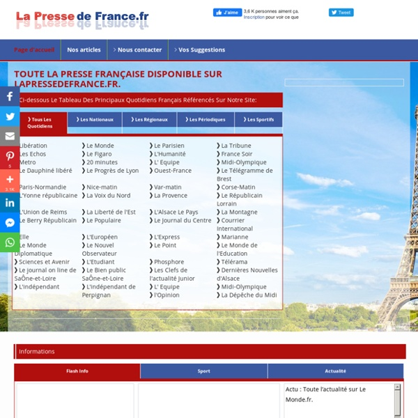Presse de france - journaux français - la presse française