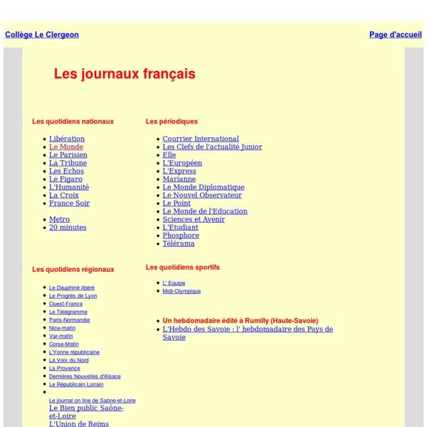 Les journaux français, la presse française