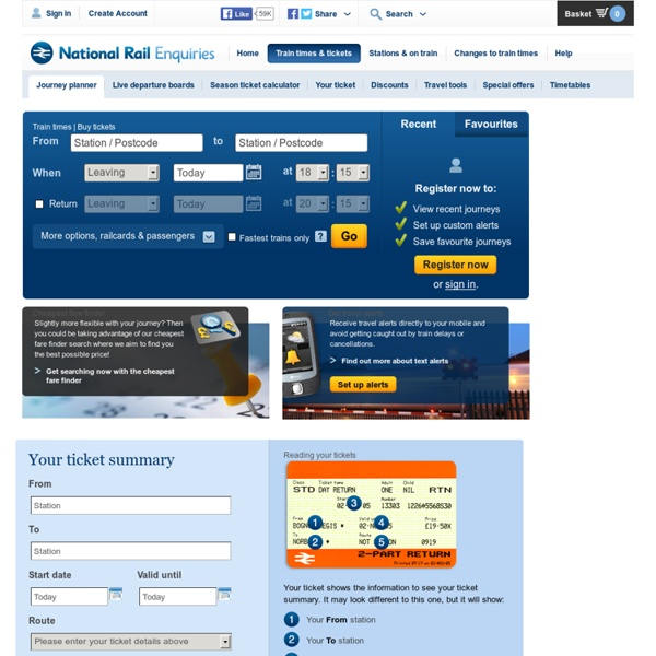 National Rail Enquiries - Journey Planner