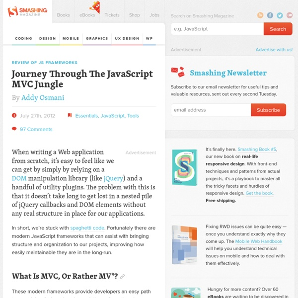 Review of JS Frameworks — Journey Through The JavaScript MVC Jungle