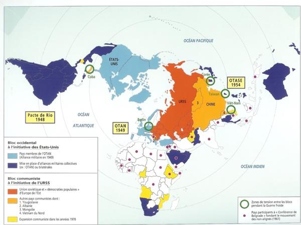 Carte de la Guerre froide