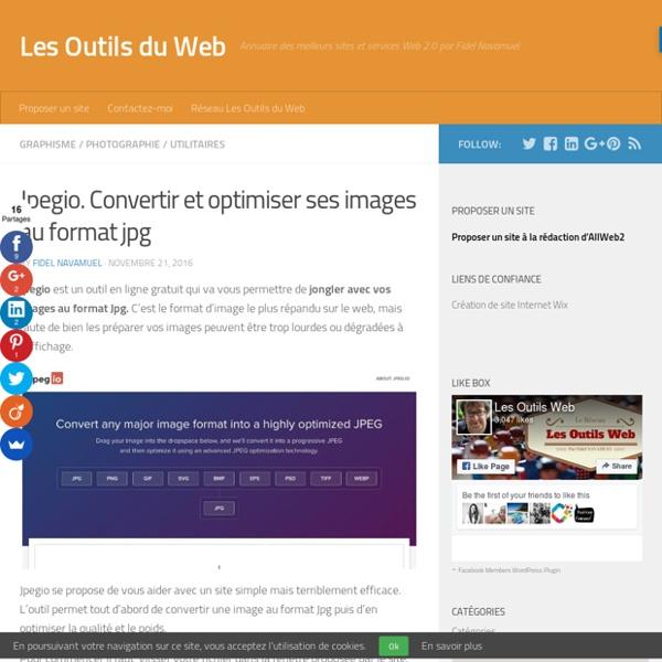 Jpegio. Convertir et optimiser ses images au format jpg