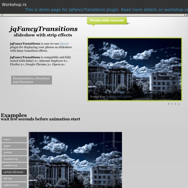 JqFancyTransitions: jQuery Image Rotator Plugin