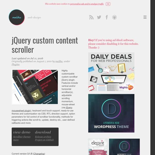 jQuery custom content scroller
