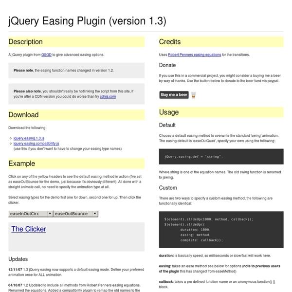 jQuery Easing Plugin