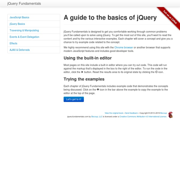 A guide to the basics of jQuery