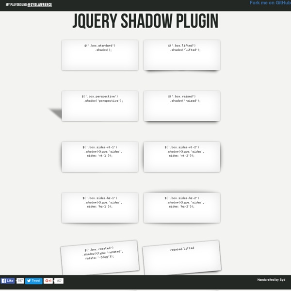 jQuery Shadow Plugin