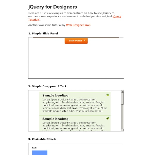 jQuery Tutorials for Designers