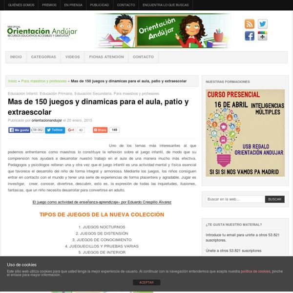 Mas De 150 Juegos Y Dinamicas Para El Aula Patio Y Extraescolar