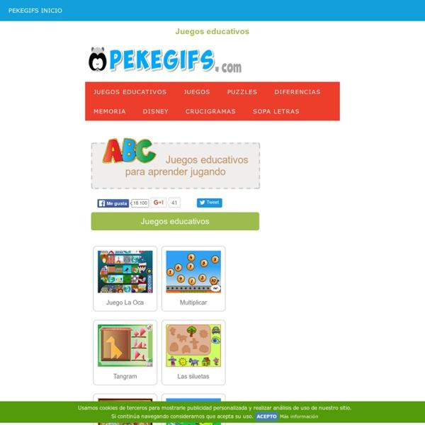 Juegos educativos para niños : Juegos infantiles | Pearltrees