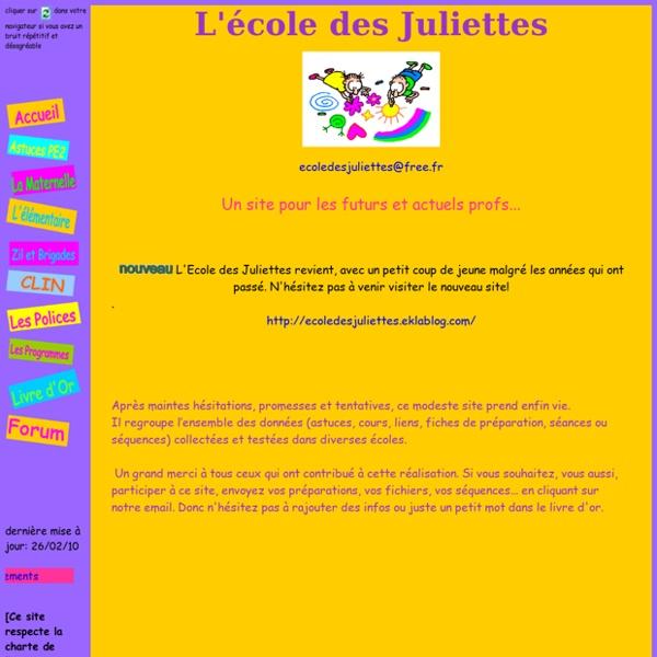 L'école des Juliettes