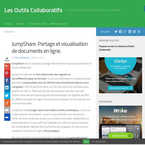 JumpShare. Partage et visualisation de documents en ligne