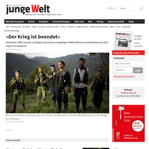 Junge Welt – die linke Tageszeitung. Nachrichten und Hintergründe