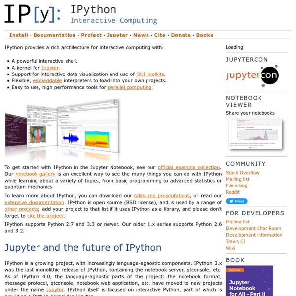 IPython: Productive Interactive Computing — IPython