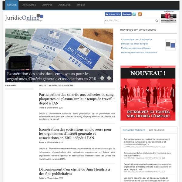JuridicOnline - Le portail du droit en ligne - JURIDICONLINE