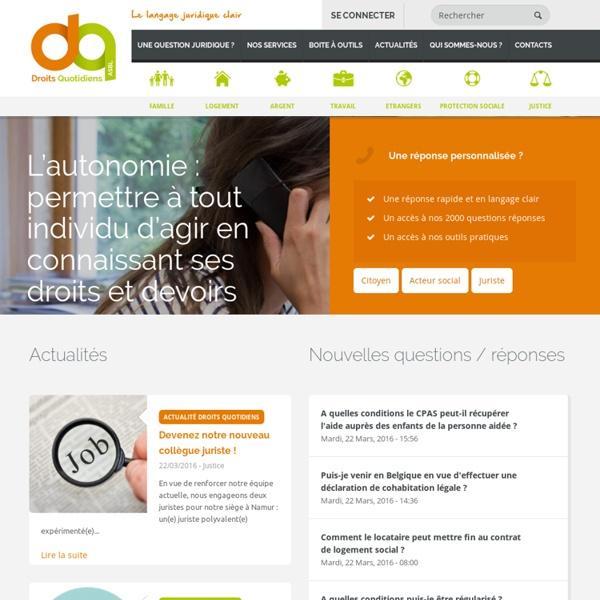 Accueil-Droits Quotidiens asbl : compréhension du droit à travers des formations, des publications et des consultations