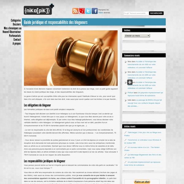 Guide juridique et responsabilités des blogueurs
