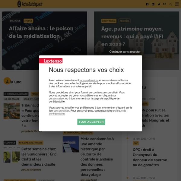 Actu juridique : site de veille juridique, toute l'actualité du droit