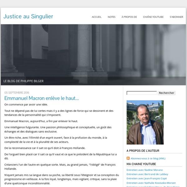Justice au singulier