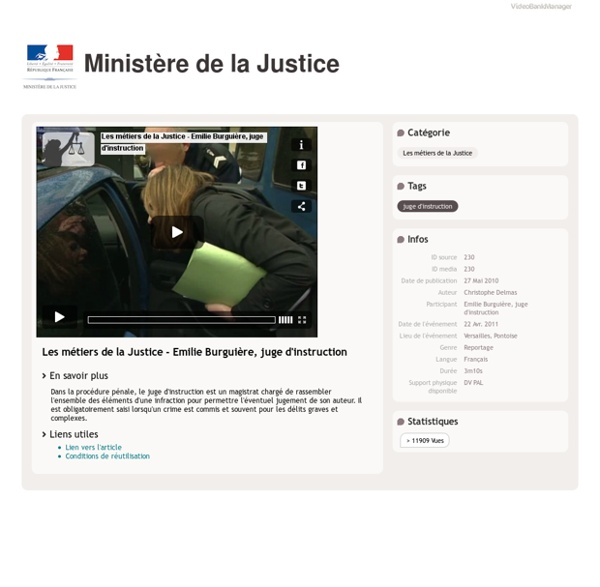 Les métiers de la Justice - Emilie Burguière, juge d'instruction