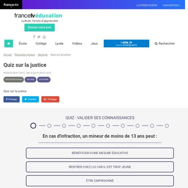 Quiz sur la justice