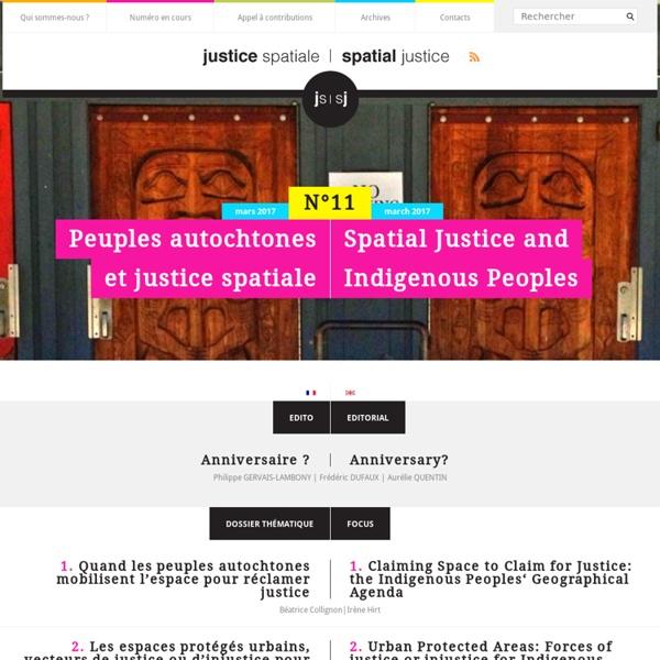 Justice spatiale – spatial justice