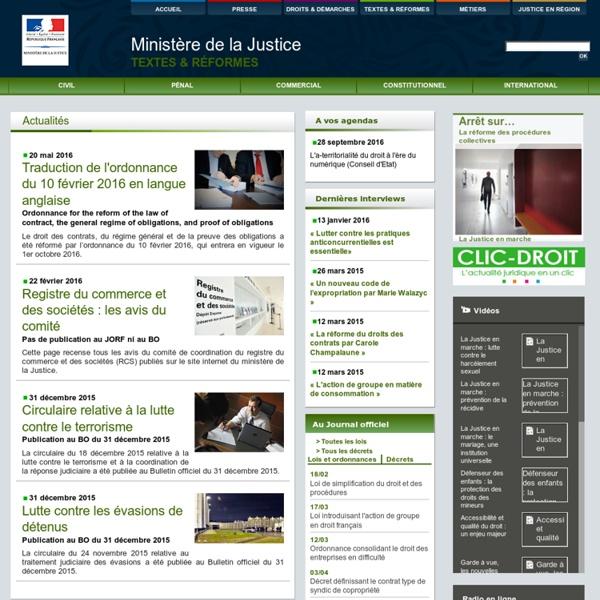 Justice / Textes et réformes