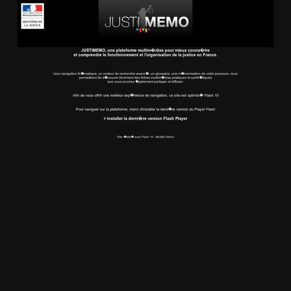 Justice en France: fonctionnement _JUSTIMEMO_Ministère de la justice