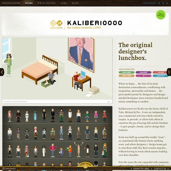 Kaliber10000 { The Designers' Lunchbox ™ }