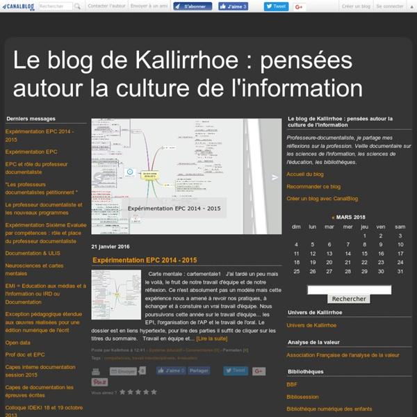 Le blog de Kallirrhoe : pensées autour la culture de l'information