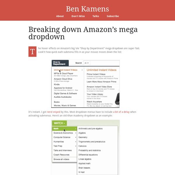 Breaking down Amazon's mega dropdown