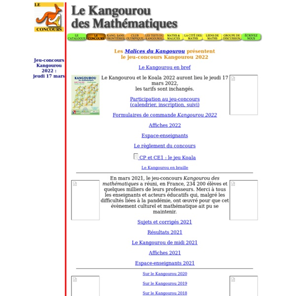Le Kangourou des mathematiques