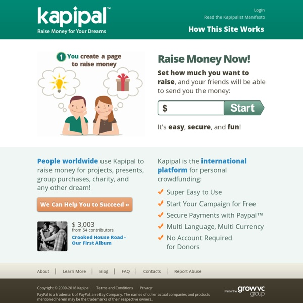 Kapipal - Raise Money for Your Dreams!