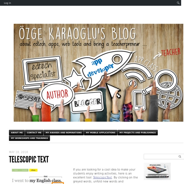 Ozge Karaoglu's Blog - About apps and web tools, and being a teacher …