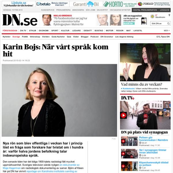 Karin Bojs: När vårt språk kom hit