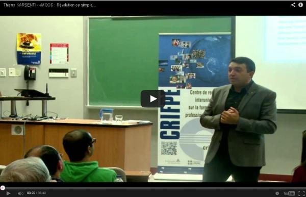 Thierry KARSENTI - «MOOC : Révolution ou simple effet de mode?» 26 septembre 2013
