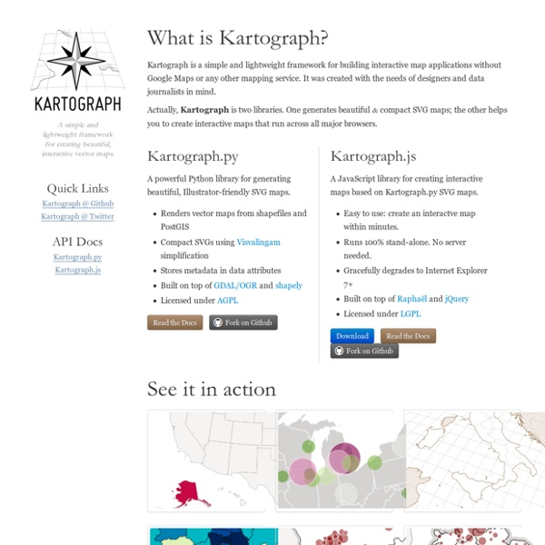 Kartograph – rethink mapping