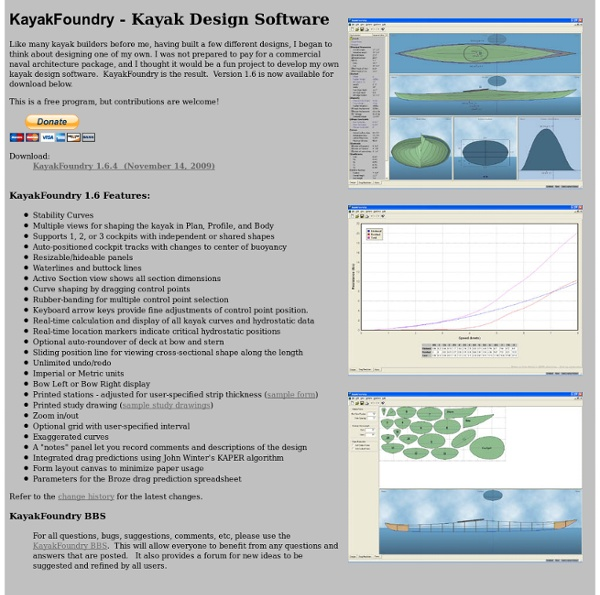 Kayak Design Software