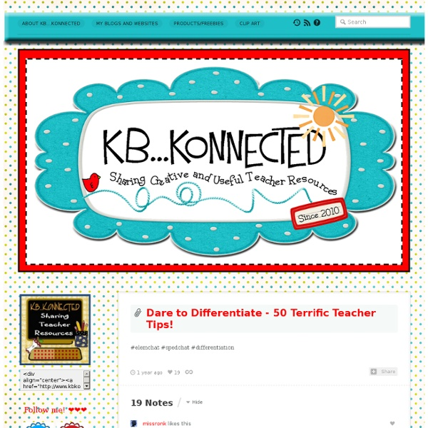 Dare to Differentiate - 50 Terrific Teacher Tips!