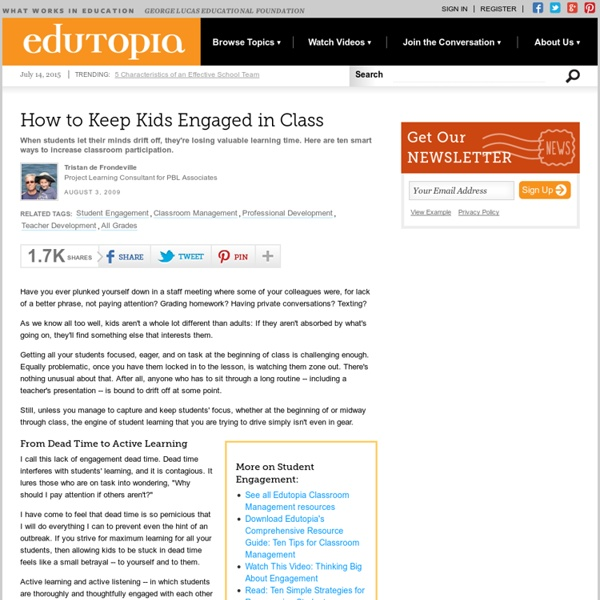How to Keep Kids Engaged in Class