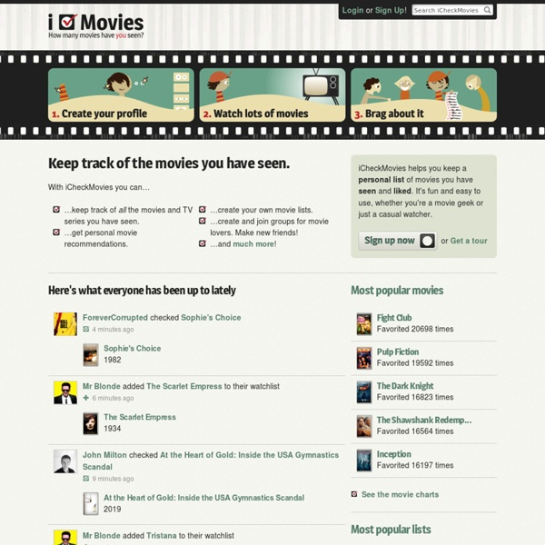Keep track of what movies you have seen - iCheckMovies.com