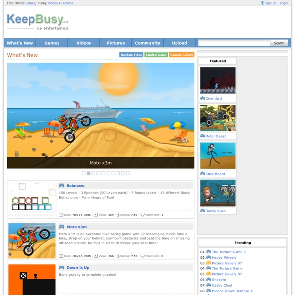 KeepBusy.net - Be Entertained