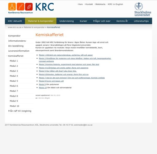 Kemilärarnas Resurscentrum KRC