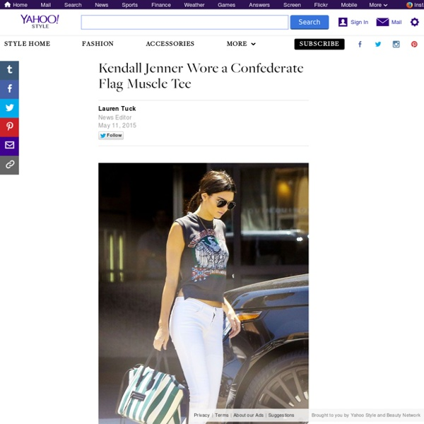 Kendall Jenner Wore a Confederate Flag Muscle Tee