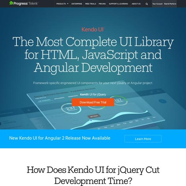 Kendo UI - jQuery HTML5 framework for desktop, mobile app development, HTML5 data visualization