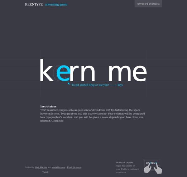 Kern Type, the kerning game