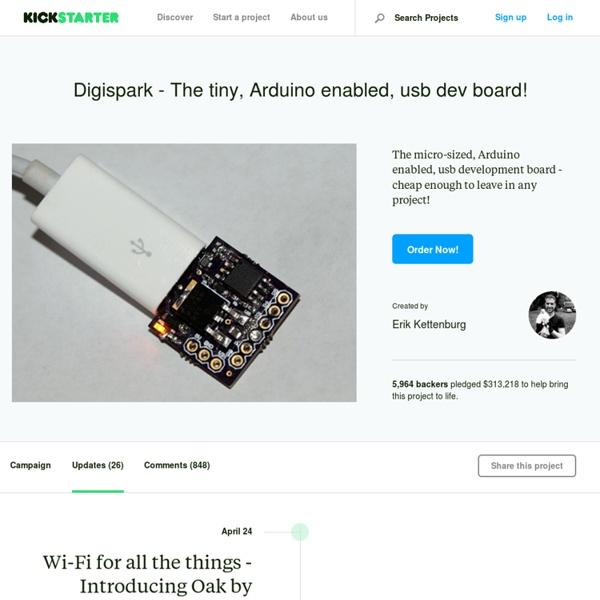 Digispark - The tiny, Arduino enabled, usb dev board! by Erik Kettenburg
