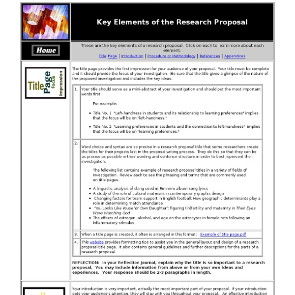 how to create a research proposal